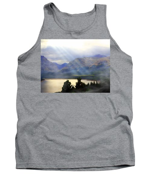Storms A Coming-lower Two Medicine Lake Tank Top