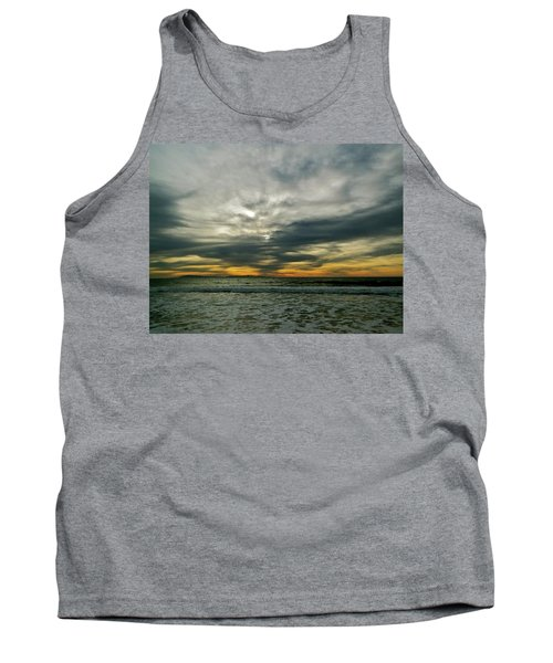 Stormy Beach Clouds Tank Top