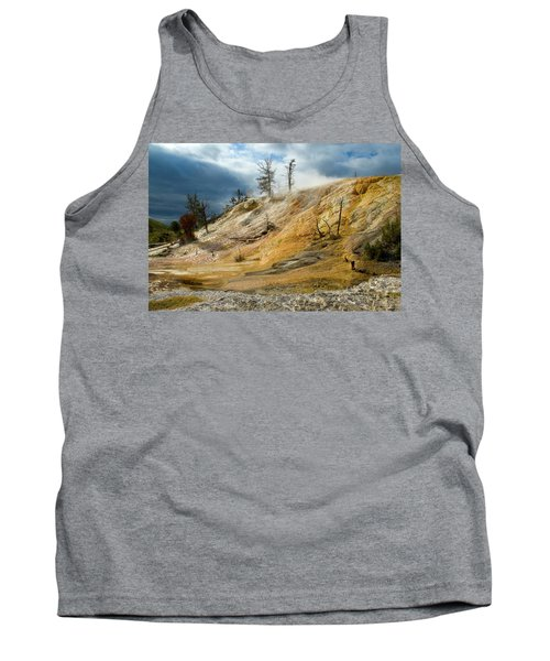 Stormy Skies At Mammoth Tank Top by Steve Stuller