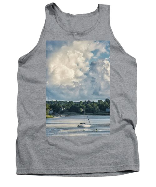 Stormy Sunday Morning On The Navesink River Tank Top by Gary Slawsky