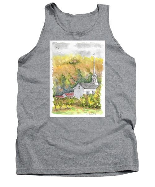 Stowe Community Church, 1839, Stowe, Vermont Tank Top