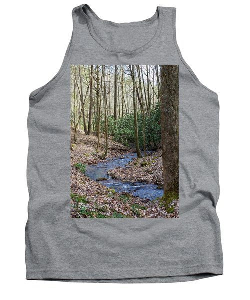Stream In The Winter Woods Tank Top