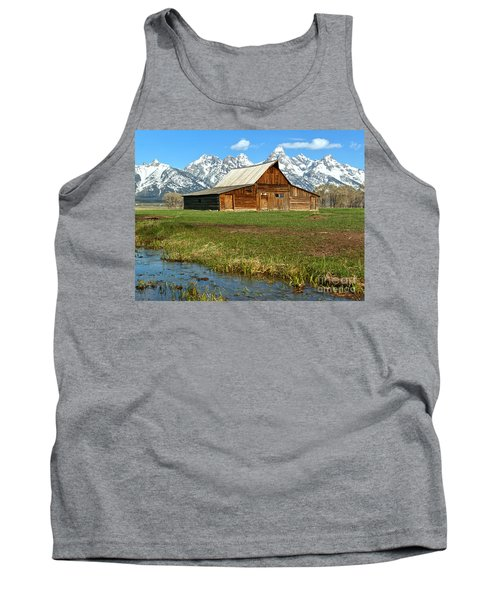 Streaming By The Moulton Barn Tank Top by Adam Jewell