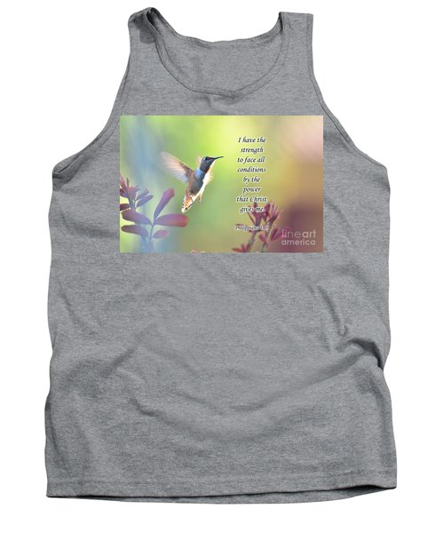 Tank Top featuring the photograph Strength Through Christ by Debby Pueschel