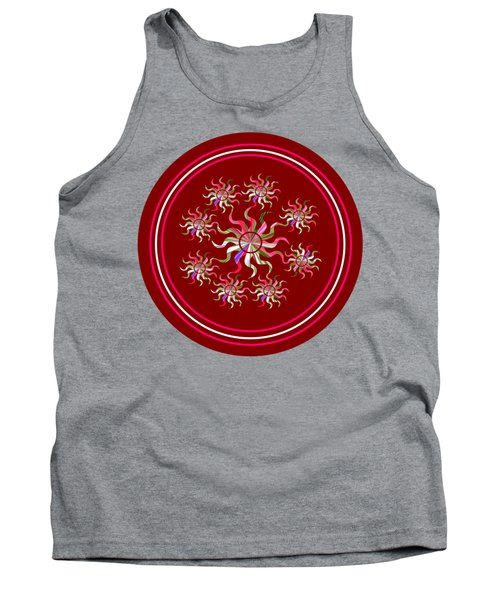 Striped Sunbursts In The Round Tank Top