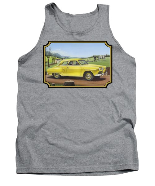 Studebaker Champion Antique Americana Nostagic Rustic Rural Farm Country Auto Car Painting Tank Top