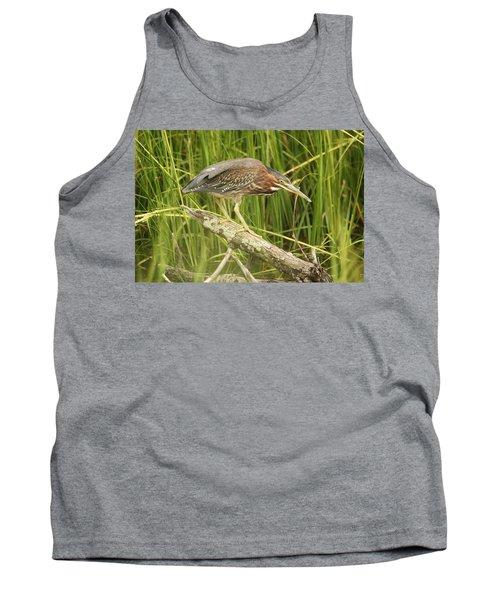 Studious Green Heron Tank Top