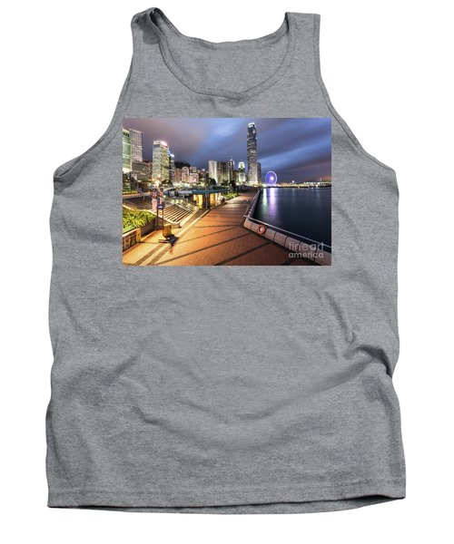 Stunning View Of Hong Kong Central Business District Skyscrapers Tank Top