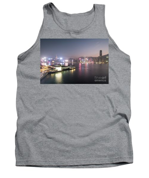 Stunning View Of The Twilight Over The Victoria Harbor And Star  Tank Top