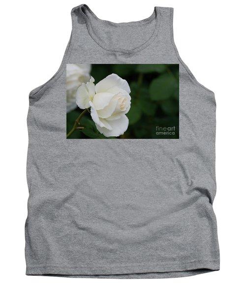 Stunning White Tineke Rose Tank Top