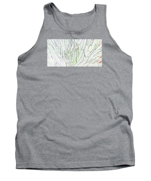 Succulent Leaves In High Key Tank Top by Nareeta Martin