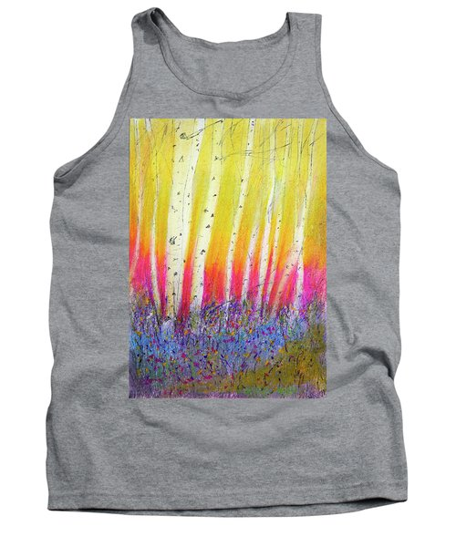 Summer Birch  Tank Top by Linde Townsend