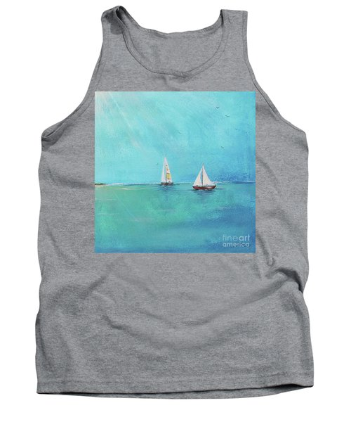 Tank Top featuring the painting Summer Breeze-e by Jean Plout