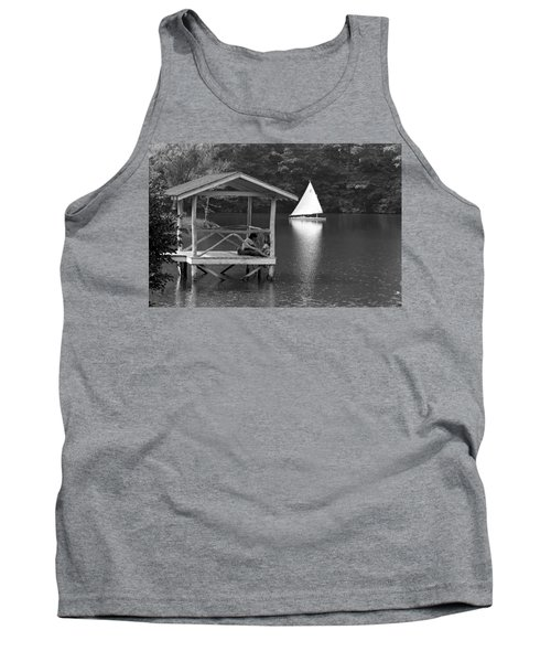 Summer Camp Black And White 1 Tank Top by Michael Fryd