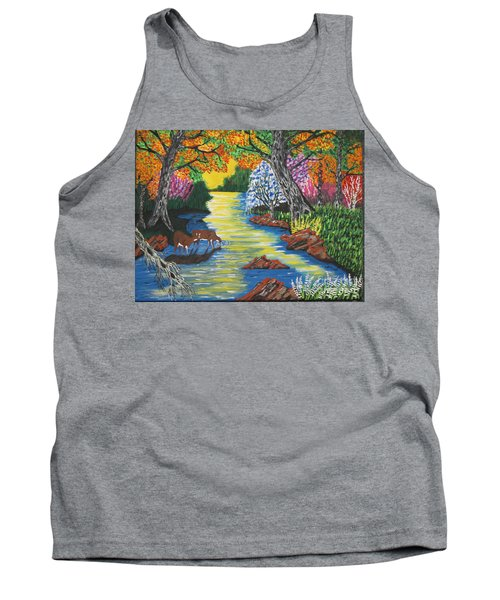 Summer  Deer Crossing Tank Top
