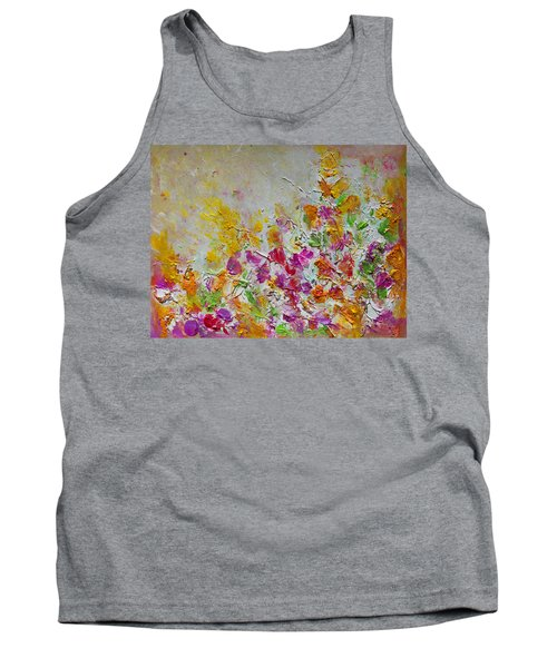 Summer Fragrance Abstract Painting Tank Top