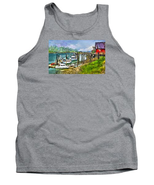Tank Top featuring the digital art Summer In La'conner by Dale Stillman