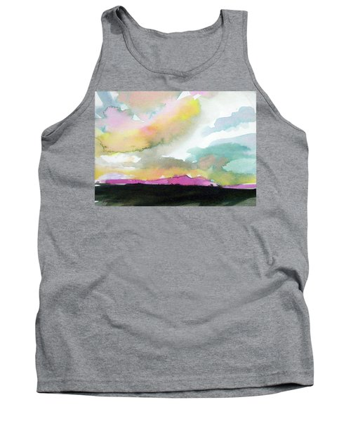 Tank Top featuring the painting Summer Monsoon by Ed Heaton