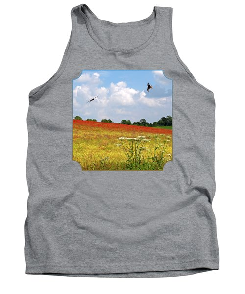 Summer Spectacular - Red Kites Over Poppy Fields Tank Top