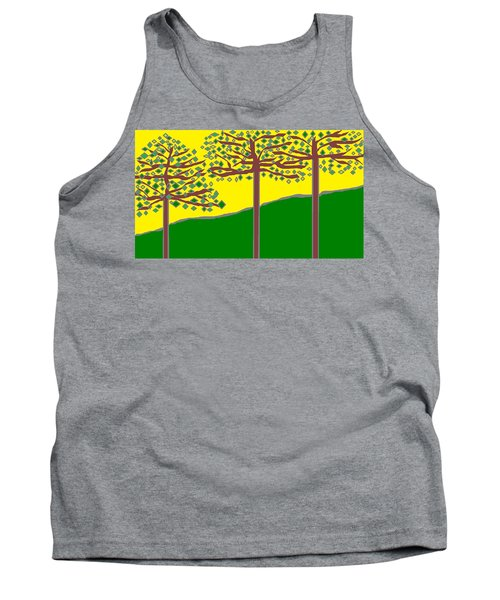 Summer Stained Glass 2 Tank Top by Linda Velasquez
