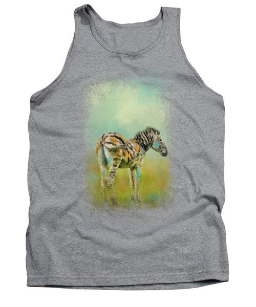 Summer Zebra 1 Tank Top