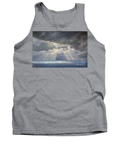 Tank Top featuring the painting Storm Subsides by Rosario Piazza