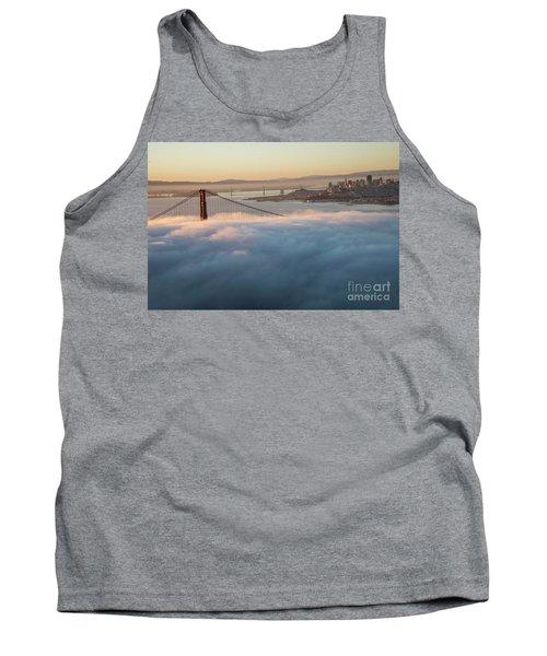 Tank Top featuring the photograph Sun Rise At Golden Gate Bridge by David Bearden