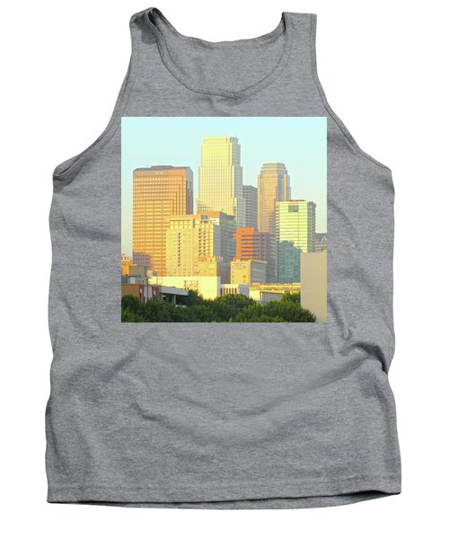 Sun Sets On Downtown Los Angeles Buildings #2 Tank Top