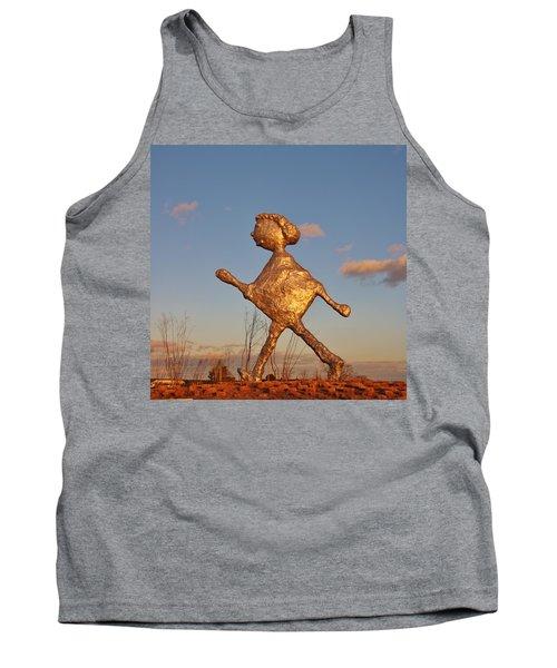Sun Setting On Walking Figure Tank Top