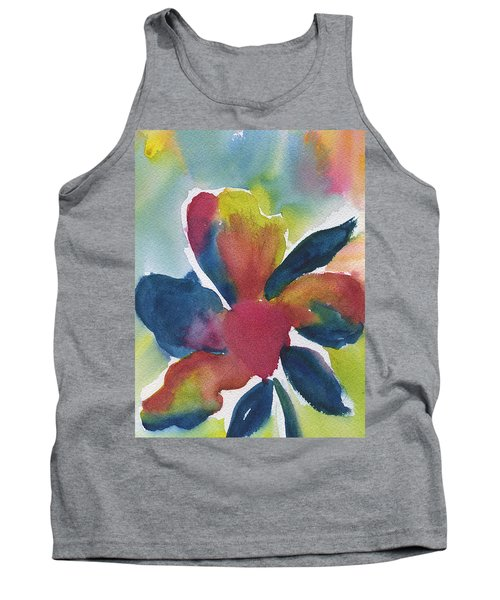 Tank Top featuring the painting Sunburst by Frank Bright
