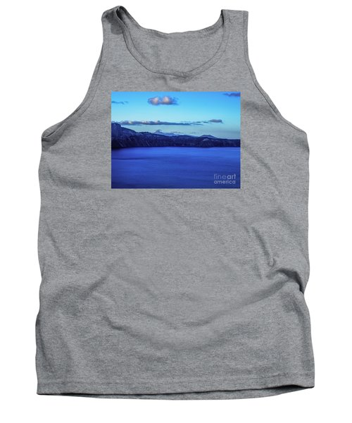 Sundown At Crater Lake Tank Top by Nancy Marie Ricketts