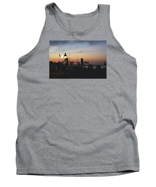 Tank Top featuring the photograph Sundown At The Harbor by Margie Avellino