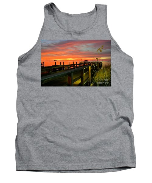 Tank Top featuring the photograph Sundown by Elfriede Fulda