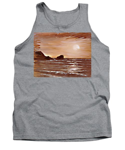 Tank Top featuring the painting Sundown Glow by Desline Vitto