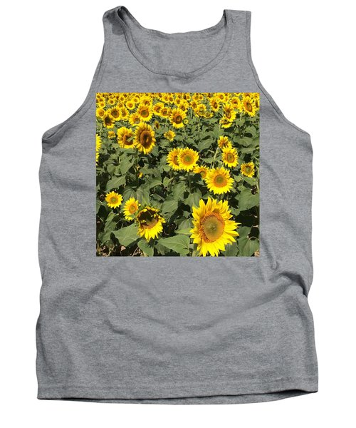 Tank Top featuring the photograph Sunflower 2016 by Caroline Stella