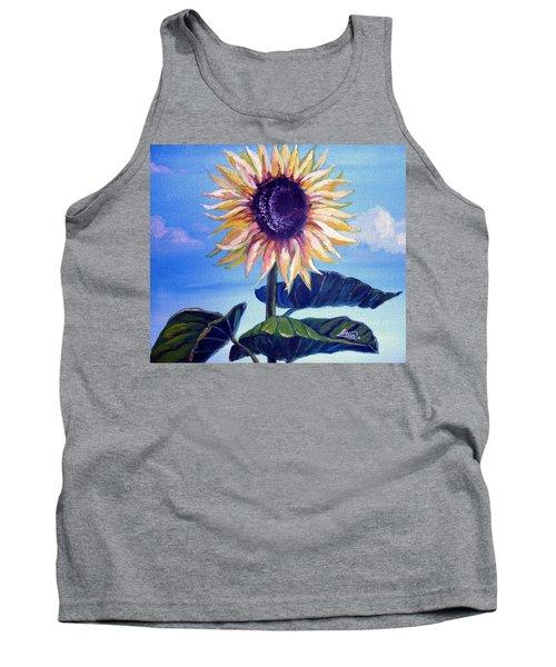 Sunflower Tank Top by Alban Dizdari