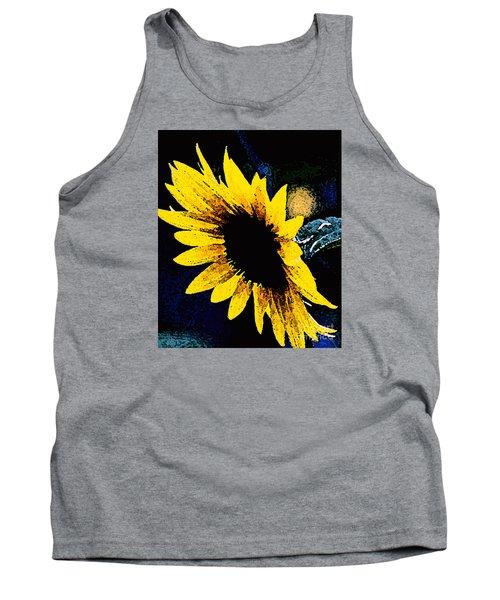 Tank Top featuring the photograph Sunflower Art  by Juls Adams