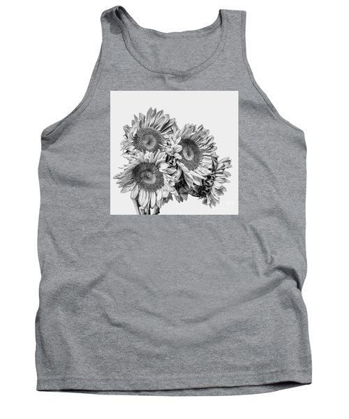 Sunflower Bouquet Bw Tank Top by Shirley Mangini