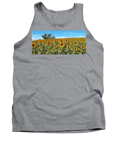 Sunflower Field One Tank Top