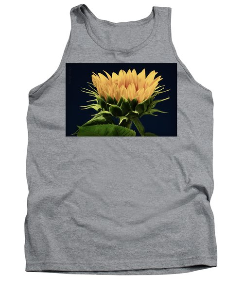 Tank Top featuring the photograph Sunflower Foliage And Petals by Chris Berry