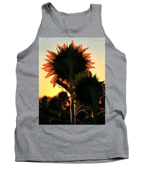 Tank Top featuring the photograph Sunflower Greeting  by Chris Berry
