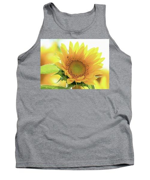Sunflower In Golden Glow Tank Top