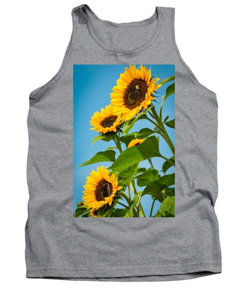 Sunflower Morning Tank Top by Debbie Karnes
