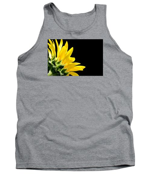 Sunflower On Black Tank Top
