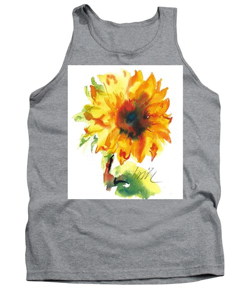 Sunflower With Blues Tank Top