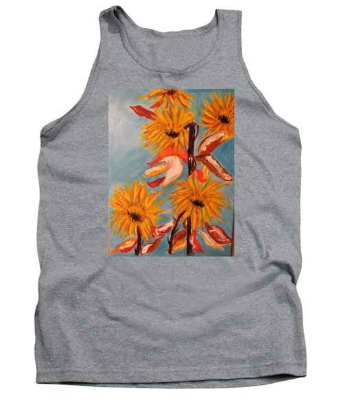 Sunflowers At Harvest Tank Top