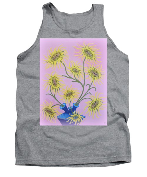 Sunflowers On Pink Tank Top