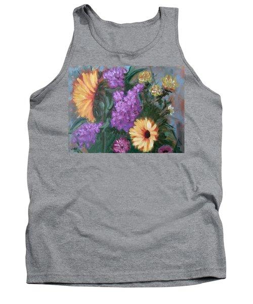 Sunflowers Tank Top by Sharon Schultz