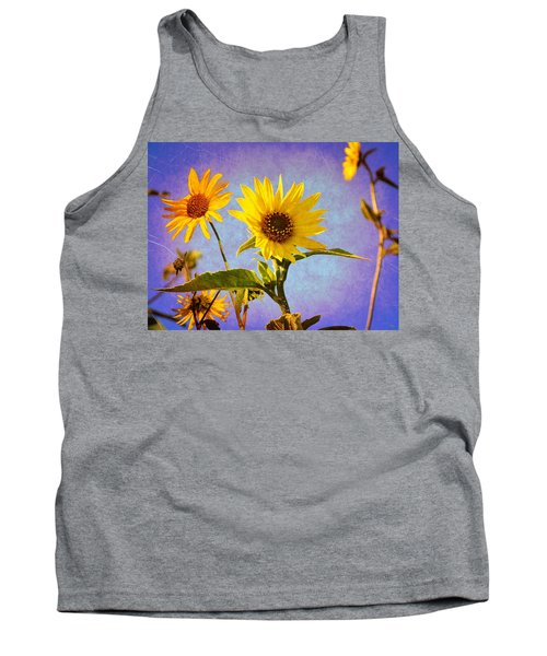 Tank Top featuring the photograph Sunflowers - The Arrival by Glenn McCarthy Art and Photography
