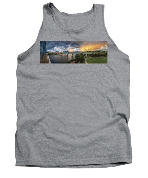 Sunlight And Showers Over Chattanooga Tank Top by Steven Llorca